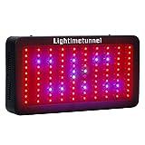 Lightimetunnel 300w Led Pflanzenleuchte Wachsen Lampe Hydroponics LED für Innen-Gewächshaus Gemüse Blume Wachsen Bühne Licht(Schwarz 40 * 21 * 6CM)