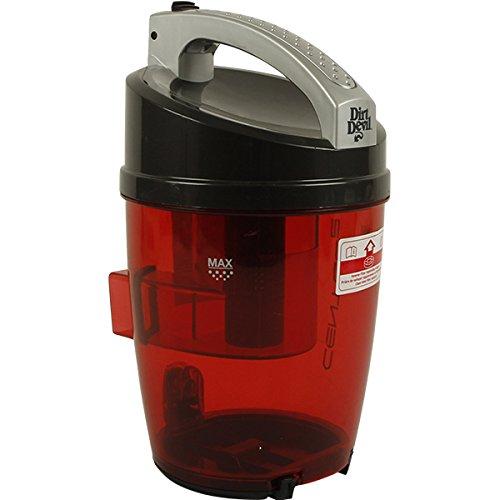 Dirt Devil Staubbehälter 2288005 | Ersatzteil rot | für Centec 2 M2288 (Centec Staubsauger)
