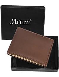 Arum Brown Leather Men Formal Wallet