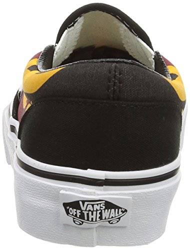 Vans Unisex-Kinder Classic Slip-On Low-Top Mehrfarbig (flame/black/racing Red)