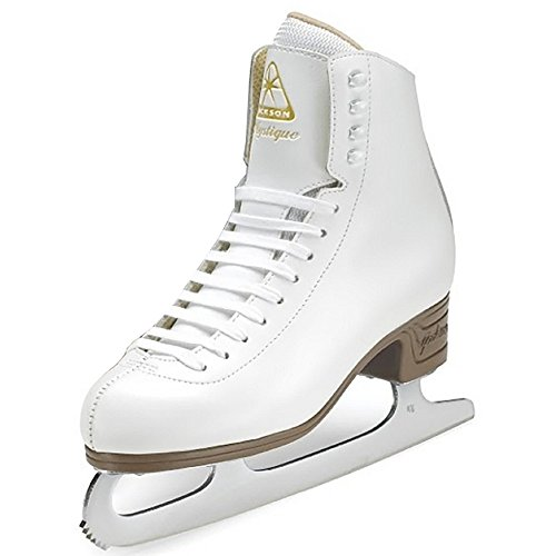 (Adult 8, White) - Jackson Ultima JS1490 JS1491 Mystique Series / Womens and Girls Figure Ice Skates