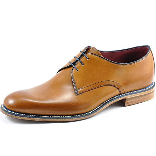loake-mens-tan-drake-leather-derby-shoes-uk-9