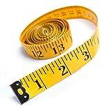 Doppia scala (cm/cun) cucito nastro misura 150cm sartoria (giallo (confezione da 2)