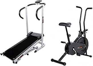 Body Maxx Lifeline Fitness Combo Manual Treadmill & Exercise Bike