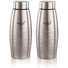 Sizzle Fridge Water Bottle 400 Ml 2 Pc Set