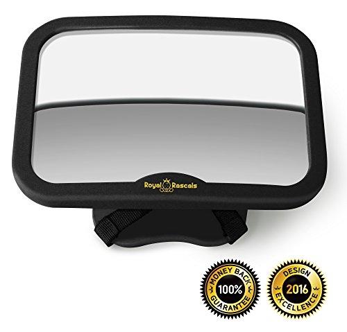 royal-rascals-baby-car-mirror-rear-view-mirror-for-rearward-facing-child-seat-black-fits-any-adjusta