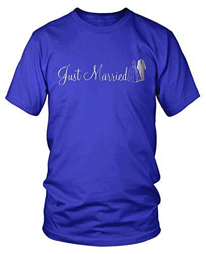 Men's Just Married Silver T-Shirt XL