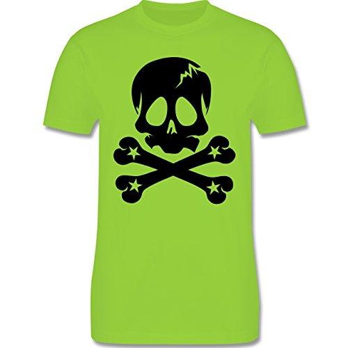 Piraten & Totenkopf - Totenkopf - Herren Premium T-Shirt Hellgrün