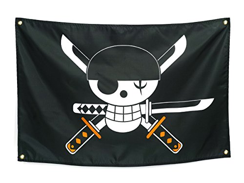CoolChange Bandera de One Piece con Jolly Roger de...