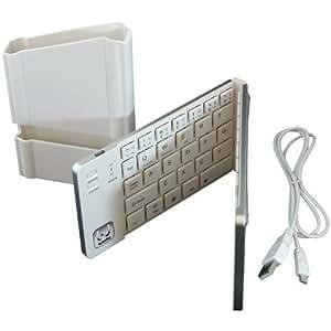 iWerkz Universal Foldable Bluetooth Keyboard, White (44652WH) Color: White