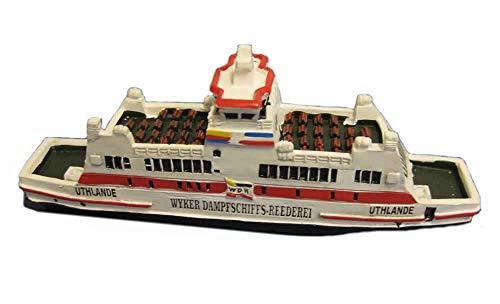 Unbekannt Schiffsmodell MS Uthlande Wyk Boot Schiff ca. 12 cm -