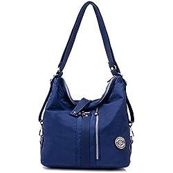 Outreo Bolso Bandolera Mujer Bolsos de Moda Impermeable Mochilas Bolsas de Viaje Sport Messenger Bag Bolsos Baratos Mano para Escolares Tablet Nylon