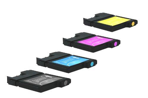 Preisvergleich Produktbild 4 kompatible Reinigungspatronen für KEIN ORIGINAL Brother LC 1100 für MFC 490 / MFC 5490 / MFC 5890 / MFC 5895 / MFC 6490 / MFC 6690 / MFC 6890 / MFC 790 / MFC 795 / MFC 990 / MFC-J 615