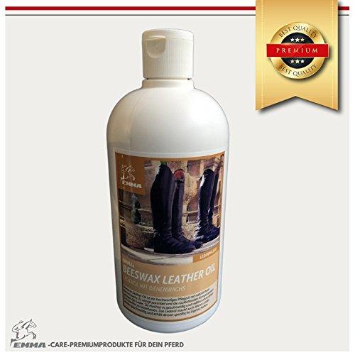 Soja, Bienenwachs (Bienenwachs Lederpflegeöl für Sattel und Trense, Premiumprodukt 500 ml)