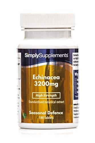 Equinacea 3200mg - ¡Bote para 1 año! - Apta para veganos - 360 cápsulas - SimplySupplements