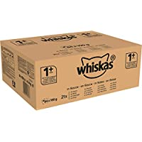 Whiskas Sachets Fraîcheur Stérilisé pour Chats Adulte Sélection à la Volaille en Sauce 84 x 100 g