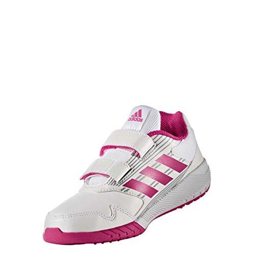 adidas Altarun CF K, Chaussures de Running Fille blanc/rose vif/gris