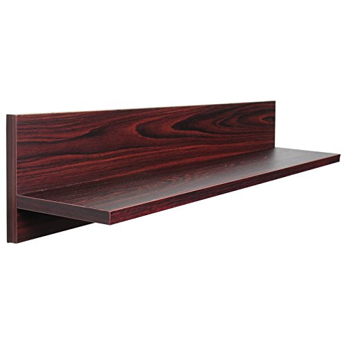 Woltu rg9242dc mensole da muro mensola rettangolare per cucina scaffale parete libreria cd legno mdf moderno rovere scuro 97x18x18cm