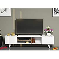 Homemania TV table - white, Size: 40 cm*160 cm*30 cm