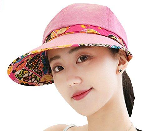 Nikgic Damen Faltbare Sonnenhut Sommerhut Strandhut Sonnenschutz Anti-UV uv-schutz Hüte Schirmmütze Hut Hüte