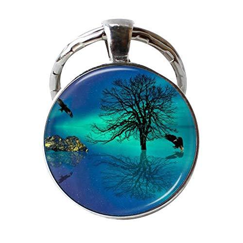 Northern Reflections (Northern Lights Schlüsselanhänger Baum des Lebens Adler Ocean Reflection Jewelry)