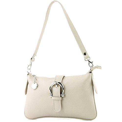 Sac à main italien besace sac messager cuir véritable sac T05, Color:Cremebeige