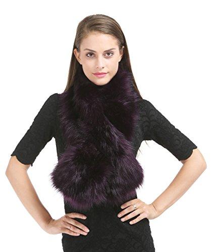 28f109b2cf5 Saferin Hiver faux fourrure foulard Wrap femmes pour fête de mariage(Violet)