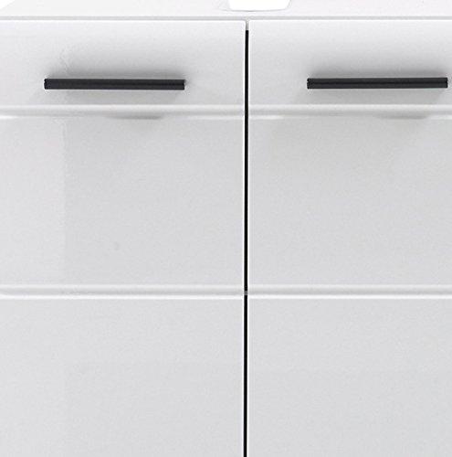 Trendteam Waschbeckenunterschrank, Weiß Hochglanz – 60x56x31 cm - 5