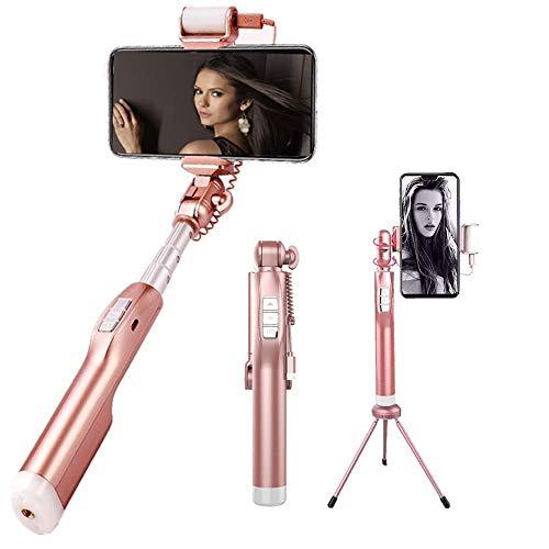 e-Clips Selfie Stick/Selfie Stange für Reise+Sport mit Alarmanlage, BT Lautsprecher, Freisprecheinrichtung, Fernauslöser für iPhone 6 und 7 Plus