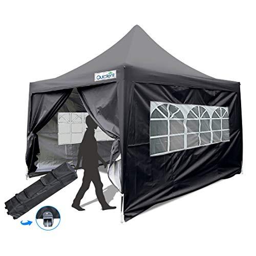Quictent silvox 8x 8'EZ Pop-up Canopy Zelt sofort Himmel mit Tragetasche 100% Waterproof-7Farben schwarz -