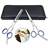 SUNTATOP Friseurscheren Set 6''Effilierschere Set Salon Haar Schneidwerkzeug Kits