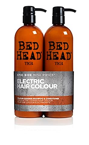 BED HEAD by TIGI Colour Goddess Tween Duo Oil Infused Shampoo & Conditioner for Brunette Hair - 750 ml (Pack of