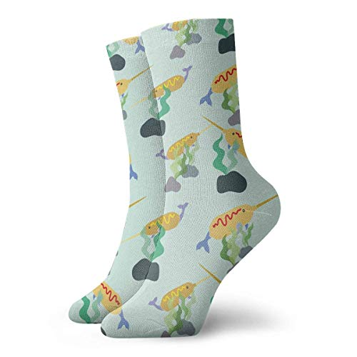 Eybfrre Narwhal Corn Dog Pattern Adult Short Socks Cotton Cute Socks for Mens Womens Yoga Hiking Cycling Running Soccer Sports