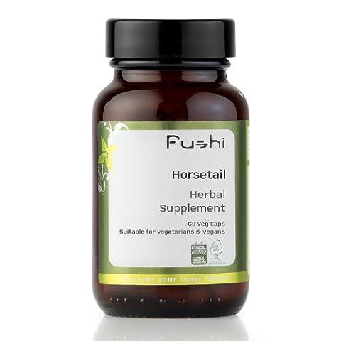 Fushi Horsetail Organic Capsules 60 Veg Caps 400mg/cap, Biodynamic Harvested Herbs