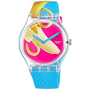 Swatch Unisex Adult Analogue Quartz Watch with Silicone Strap SUOK140