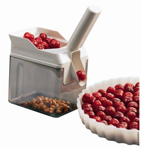 Leifheit 37200 Deshuesador de cerezas Plástico, Blanco