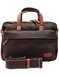 Siach Office Laptop Shoulder Messenger Bag For Men & Women Canvas & Vegan Leather Meeting Stylish