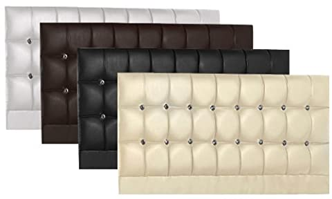 Faux Leather Crystal Diamante Kingsize Bed 5FT Standard Size Headboard Brand New (Black)