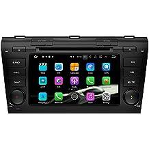 SAVORI Radio 2 din Android 7.1.1 Nougat 2GB RAM In Dash Pantalla Táctil 7 Pulgadas Radio Reproductor DVD Con Navegador GPS Autoradio Para Mazda 3 2003-2009 Soporte Bluetooth WIFI SD/USB AV-EN DVR SWC OBD2
