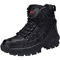 Logobeing Zapatilla Hombre Aire Libre y Deporte Botas de Senderismo Botines Tácticas Zapatos de Deportivos Botas de Cuero para Caminar Cordones Trainer 39-46