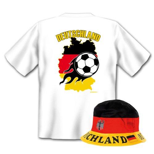 Geniales Outfit für Sport Freunde - Deutschland T-Shirt + Mütze