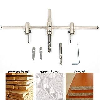 Kreis Lochsäge, SROL Verstellbare Holz Kreis Loch Säge Bohrer Kreisschneider Holzverarbeitung Werkzeuge Circle Hole Saw Cutter Kit 40mm-300mm