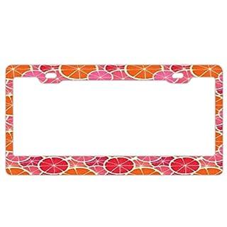 Barnettplate frames Nummernschildrahmen für Damen, Custom Kennzeichenrahmen Nummernschildhalter niedlicher Kennzeichenabdeckung, Citrus Lemons