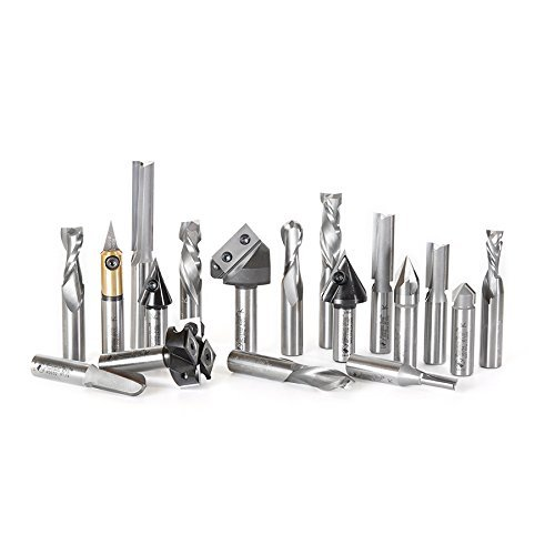 Amana Tool AMS-139 18-Pc Advanced General Purpose CNC Router Bit Collection by Amana (Amana Router Bits)
