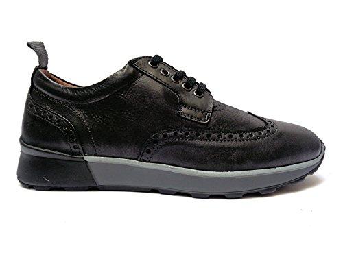 Antica Cuoieria scarpe casual/formali da uomo in pelle col. Nero,n. 43