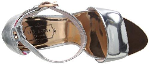 Ted Baker Secoa, Escarpins Bout Ouvert Femme Argent (Silver)