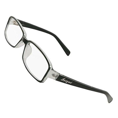 DealMux Frau Mann aus schwarzem Kunststoff Full Frame Multi beschichtete Linse plain Gläser