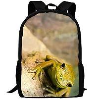 LOVE GIRL Pale Green Frog Adult Travel Backpack School Bookbag Casual Daypack Oxford Outdoor Laptop Bag Computer Shoulder Bags