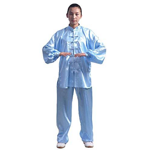 Meijunter Traditionell Chinesisch Tai Chi Wushu Kleidung - Unisex Kinder Erwachsene Kampfkunst Performance Kostüm Kung Fu Uniform