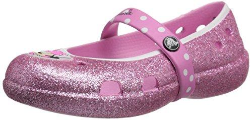 Crocs keeley minnie glitter flat bambini us 12 rosa ballerine